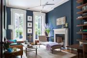 Фото 21 Роскошь индиго — темно-синие обои (70+ фото): психология цвета в интерьере и советы дизайнеров