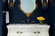 Фото 24 Роскошь индиго — темно-синие обои (70+ фото): психология цвета в интерьере и советы дизайнеров