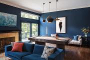 Фото 1 Роскошь индиго — темно-синие обои (70+ фото): психология цвета в интерьере и советы дизайнеров