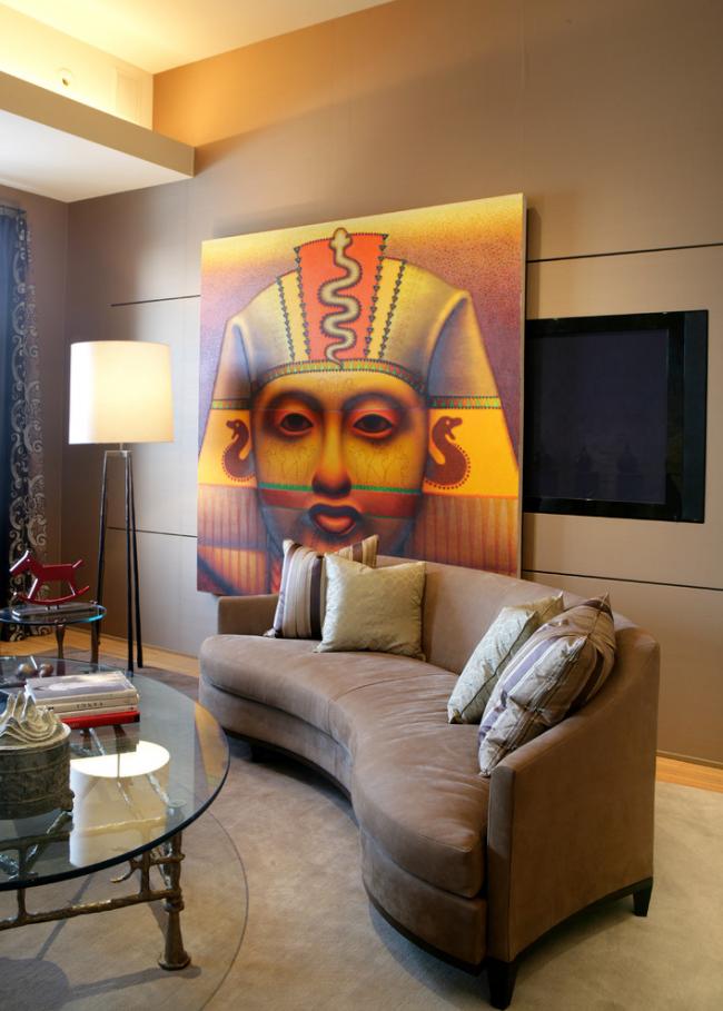 Крупные египетский элемент станет украшением любого помещения
