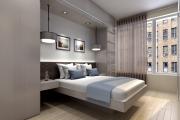 Фото 4 Шкафы в спальню над кроватью: интерьерное применение, материалыи установка