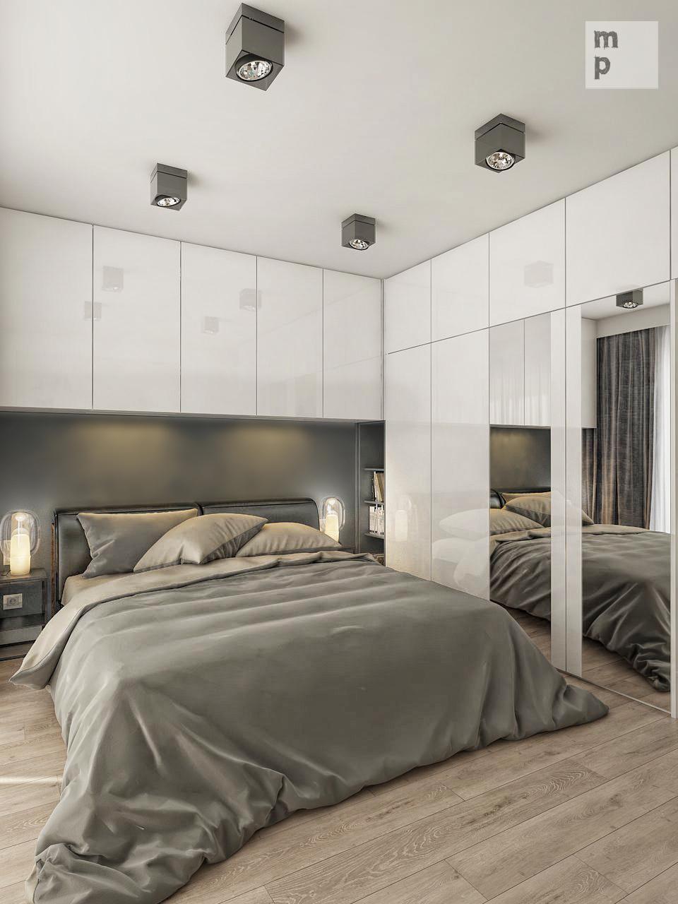 Полки над кроватью: преимущества, варианты конструкций и оформления