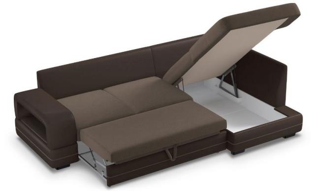 Большое спальное место и вместительный ящик для белья