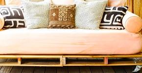 Стильная мебель без ущерба бюджету: делаем диван из поддонов своими руками фото