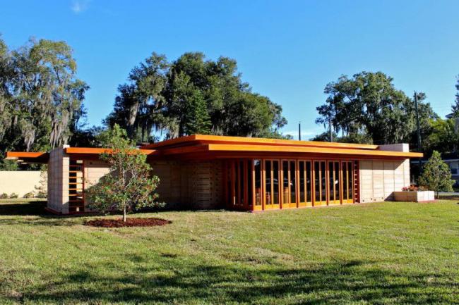 Дом Юсониан от Фрэнка Ллойда Райта, который находится в США