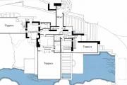 Фото 8 Обаяние антиурбанизма (50+ фото): обзор «Дома над водопадом» Фрэнка Ллойда Райта и почему он так знаменит?
