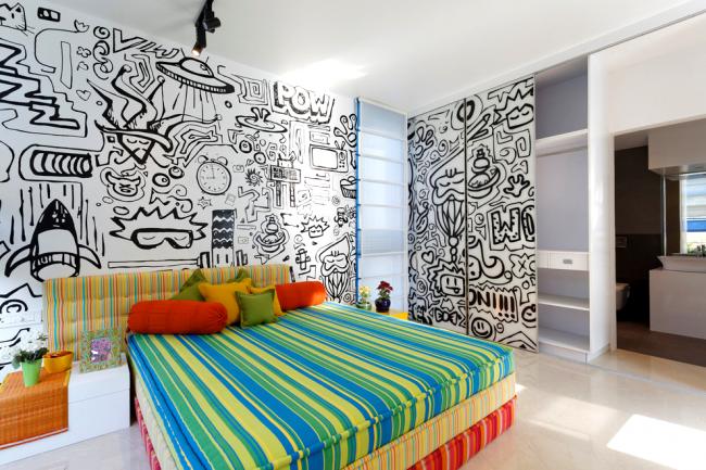 Гармонично оформленный интерьер детской комнаты