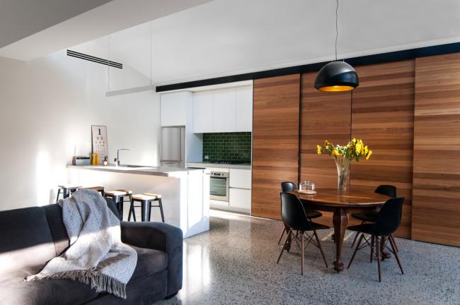 Дизайн квартиры-студии в стиле модернизм