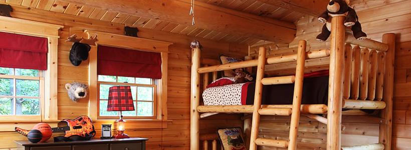 Кантри-настроение: создаем интерьер детской комнаты в деревянном доме