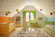 Фото 20 Кантри-настроение: создаем интерьер детской комнаты в деревянном доме