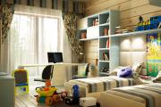 Фото 25 Кантри-настроение: создаем интерьер детской комнаты в деревянном доме