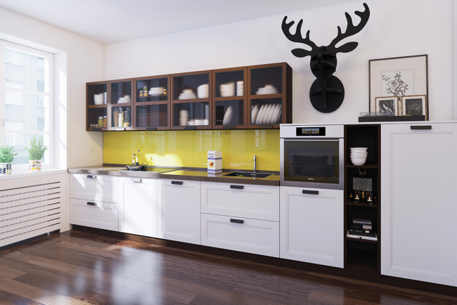 На фото - комфортная и лаконичная модель кухни Дриада