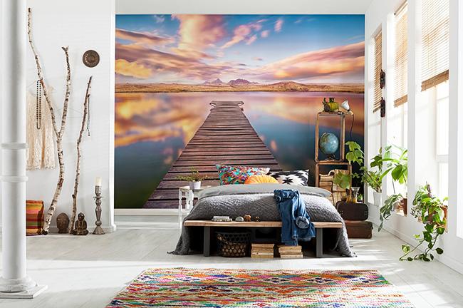 Обои со стереоскопическим эффектом станут ярким и стильным дополнением к интерьеру современной спальни