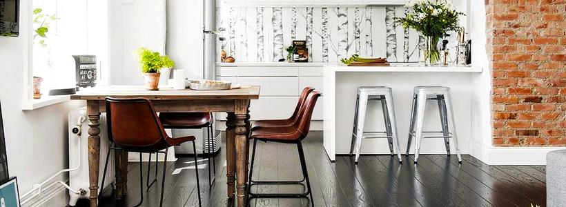 Интерьер кухни с темным полом: варианты лаконичных сочетаний и советы дизайнеров
