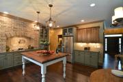 Фото 7 Элегантные кухни с темным полом: 80+ фотоидей для лаконичных и стильных кухонных интерьеров