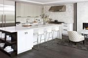 Фото 8 Элегантные кухни с темным полом: 80+ фотоидей для лаконичных и стильных кухонных интерьеров