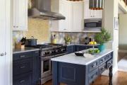 Фото 20 Элегантные кухни с темным полом: 80+ фотоидей для лаконичных и стильных кухонных интерьеров