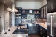 Фото 27 Элегантные кухни с темным полом: 80+ фотоидей для лаконичных и стильных кухонных интерьеров