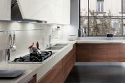 Фото 28 Элегантные кухни с темным полом: 80+ фотоидей для лаконичных и стильных кухонных интерьеров