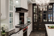 Фото 29 Элегантные кухни с темным полом: 80+ фотоидей для лаконичных и стильных кухонных интерьеров