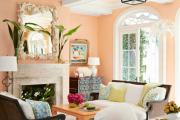 Фото 17 Обаяние пастельных тонов (65+ фото): персиковые обои в интерьере и варианты их лучших сочетаний