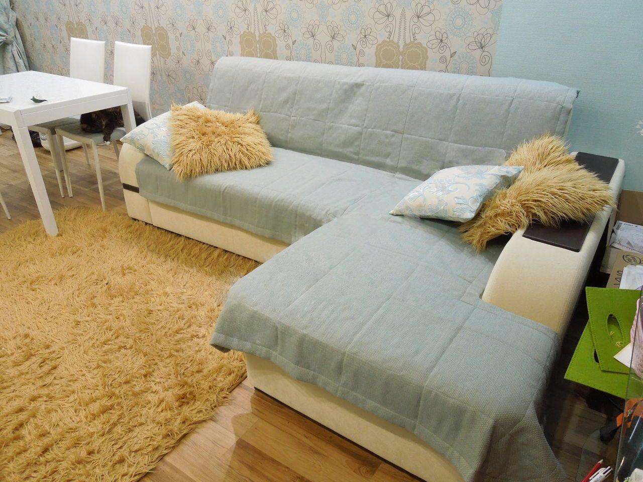 Покрывало для углового дивана сшить 43