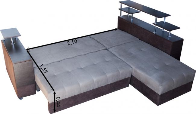 Удобная трансформация спального места и обратно