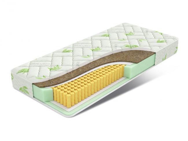 Матрас Millenium Matrix с различной жесткостью сторон и максимальным весом на одно спальное место 125 кг