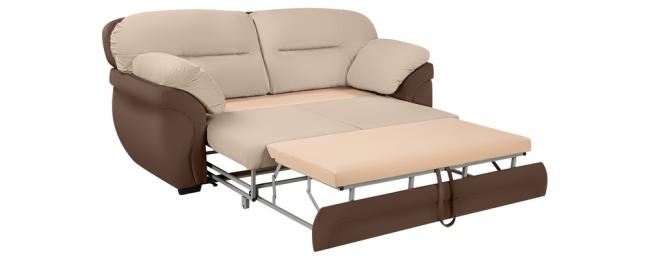 При достаточно скромных размерах, диван трансформируется в полноценное спальное место