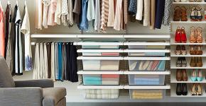 Функциональное пространство — гардеробные системы Larvij: популярные модели, варианты размещения и цены фото
