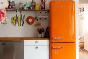 Фото 27 Курс на винтажность: обзор стильных ретро-холодильников для кухонного интерьера