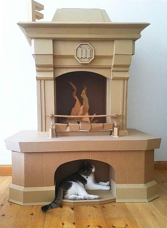 Сложная конструкция, но даже домашний любимец оценил