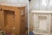 Фото 20 Как сделать камин из коробок своими руками: пошаговая инструкция и 60+ простых идей декора