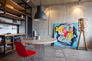 Фото 1 Акцент на стены (80+ идей): обзор стильных и современных картин в стиле лофт для интерьера