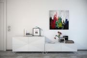 Фото 11 Акцент на стены (80+ идей): обзор стильных и современных картин в стиле лофт для интерьера