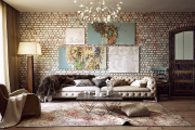 Фото 13 Акцент на стены (80+ идей): обзор стильных и современных картин в стиле лофт для интерьера