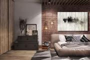 Фото 23 Акцент на стены (80+ идей): обзор стильных и современных картин в стиле лофт для интерьера