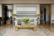 Фото 23 Жаккардовый ковер в интерьере: 65+ ярких и элегантных вариантов для гостиной и спальни