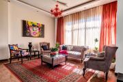 Фото 25 Жаккардовый ковер в интерьере: 65+ ярких и элегантных вариантов для гостиной и спальни
