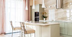 Дизайн кухни с бежевым фартуком: обзор стильных вариантов отделки и правильных сочетаний фото