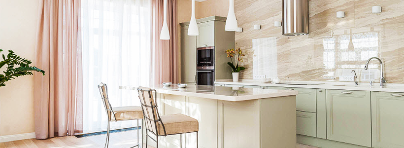 Дизайн кухни с бежевым фартуком: обзор стильных вариантов отделки и правильных сочетаний