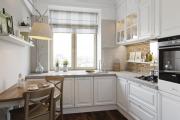 Фото 5 Дизайн кухни с бежевым фартуком: обзор стильных вариантов отделки и правильных сочетаний