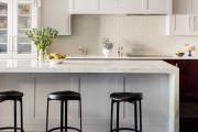 Фото 7 Дизайн кухни с бежевым фартуком: обзор стильных вариантов отделки и правильных сочетаний