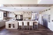 Фото 15 Дизайн кухни с бежевым фартуком: обзор стильных вариантов отделки и правильных сочетаний
