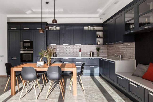 Гармоничный образ оформления кухонного пространства