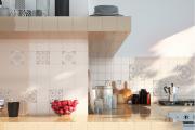Фото 1 Дизайн кухни с бежевым фартуком: обзор стильных вариантов отделки и правильных сочетаний