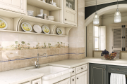 Фото 16 Дизайн кухни с бежевым фартуком: обзор стильных вариантов отделки и правильных сочетаний