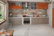 Фото 3 Дизайн кухни с бежевым фартуком: обзор стильных вариантов отделки и правильных сочетаний
