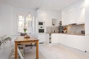 Фото 19 Дизайн кухни с бежевым фартуком: обзор стильных вариантов отделки и правильных сочетаний