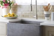 Фото 4 Дизайн кухни с бежевым фартуком: обзор стильных вариантов отделки и правильных сочетаний